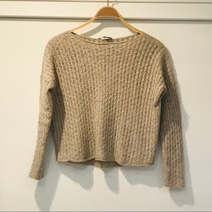 VINCE Sweater with Cableknit Detailing